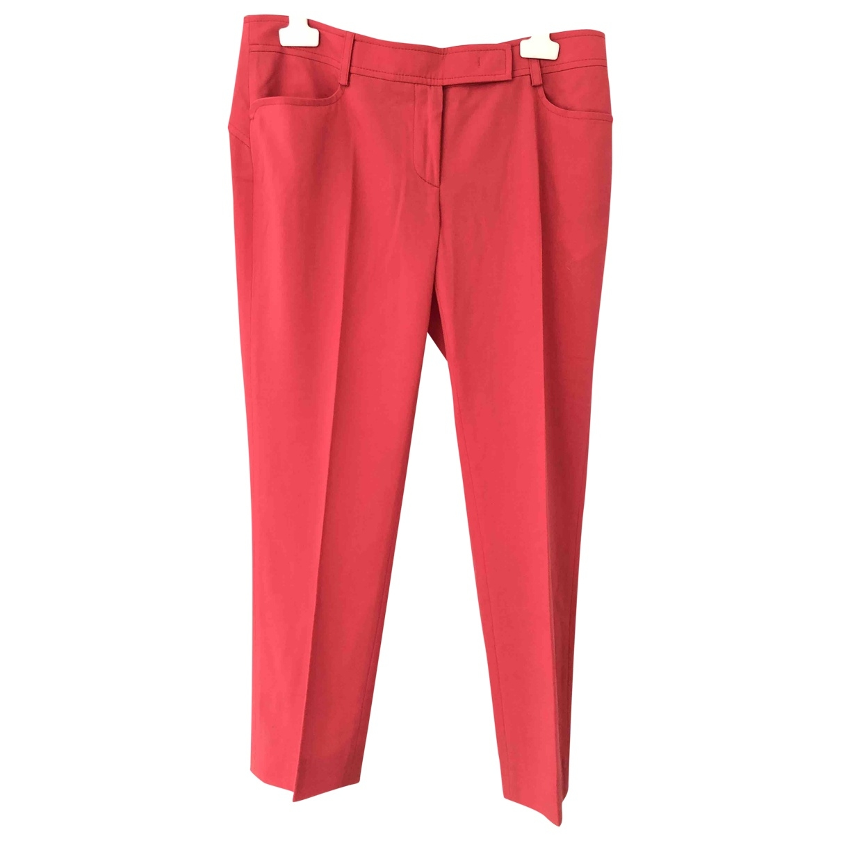Emilio Pucci \N Pink Wool Trousers for Women 40 FR