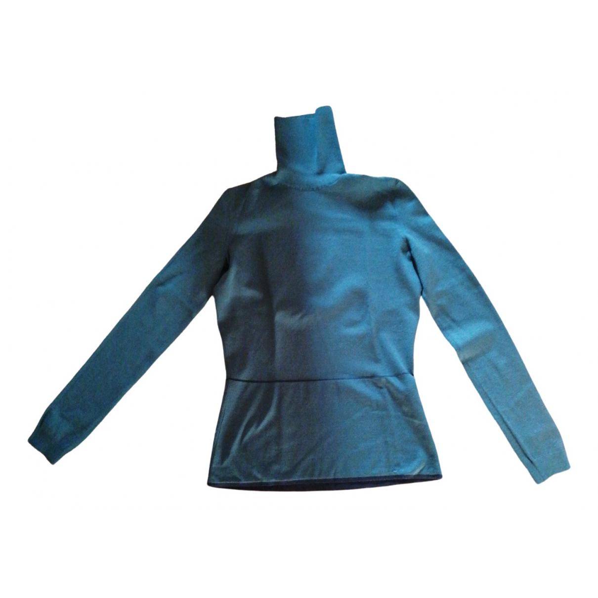 Yves Saint Laurent - Pull   pour femme en soie - vert