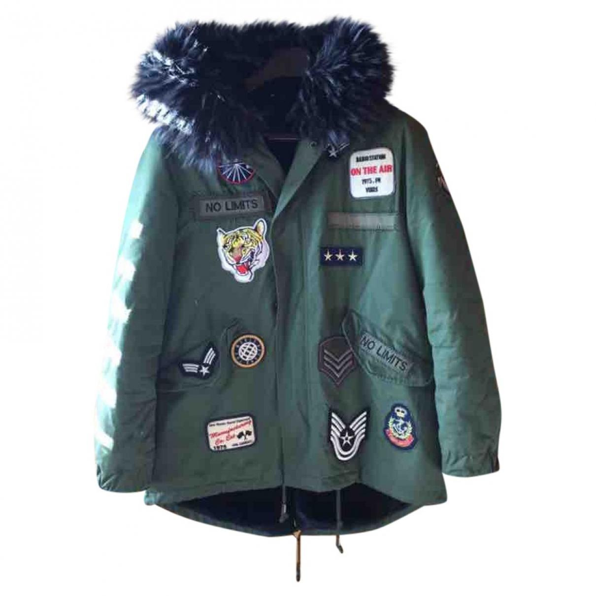 Zara \N Navy Cotton coat for Women 40 FR