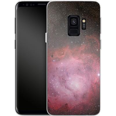 Samsung Galaxy S9 Silikon Handyhuelle - Pink Nebula von caseable Designs