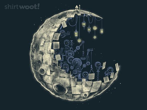 To Build Full Moon T Shirt