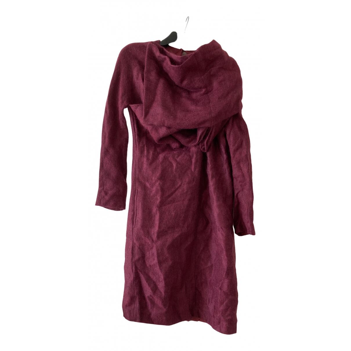 Nicole Farhi \N Burgundy Wool dress for Women 12 UK