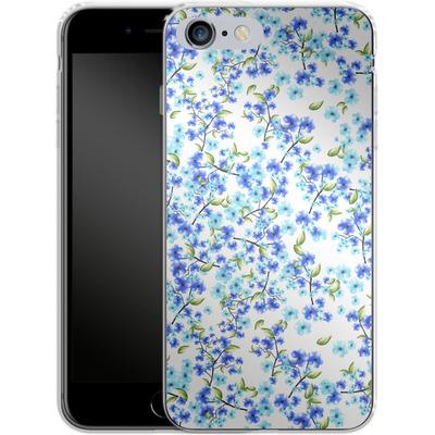 Apple iPhone 6s Plus Silikon Handyhuelle - Blue Blooms von Mukta Lata Barua