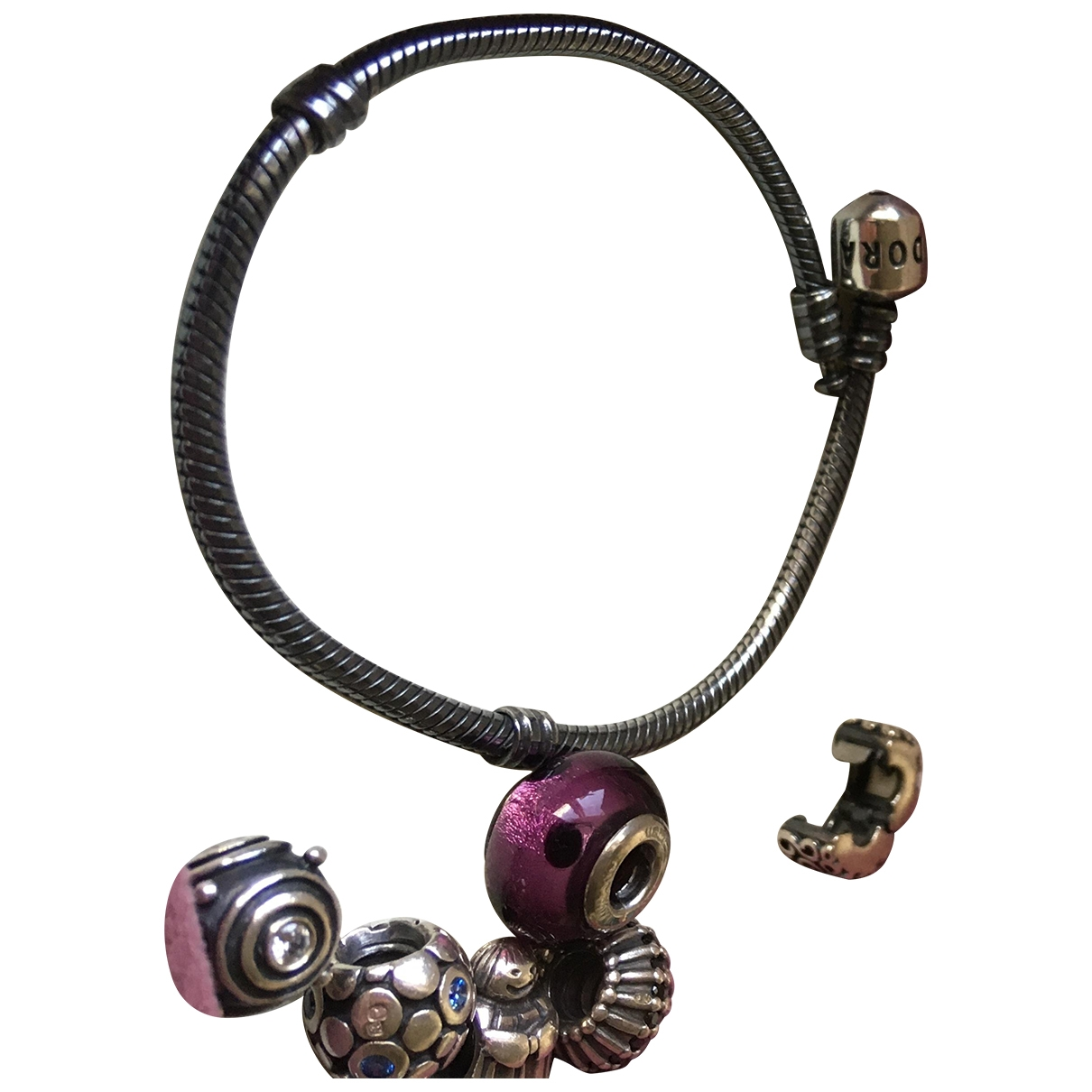 Pandora - Bracelet   pour femme en argent - anthracite