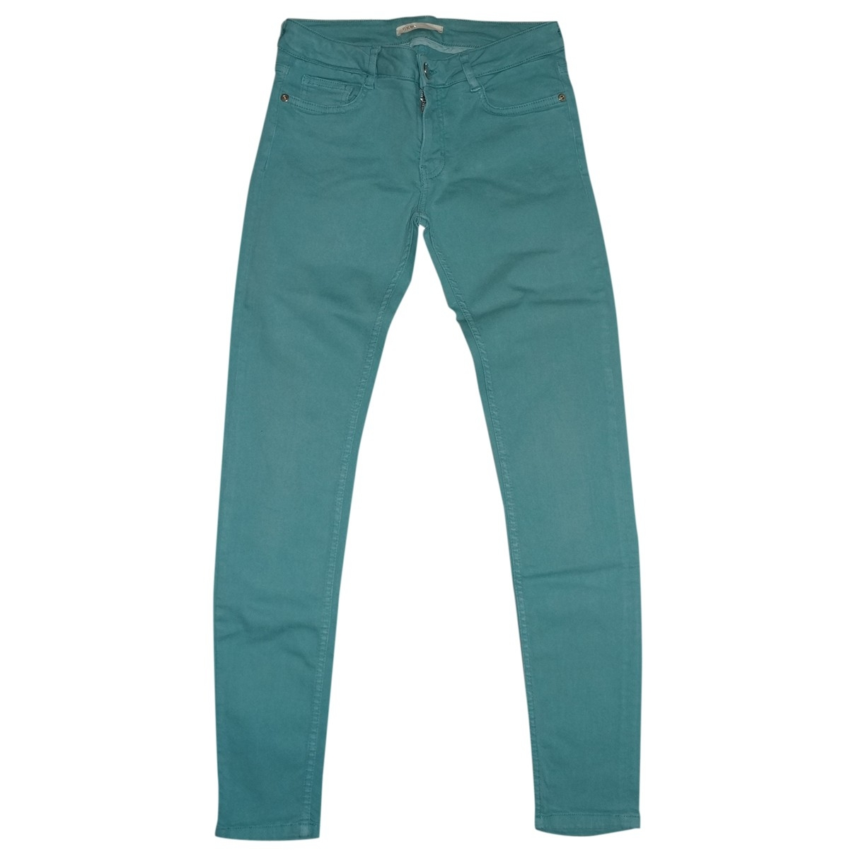 Maje \N Turquoise Cotton Jeans for Women 38 FR