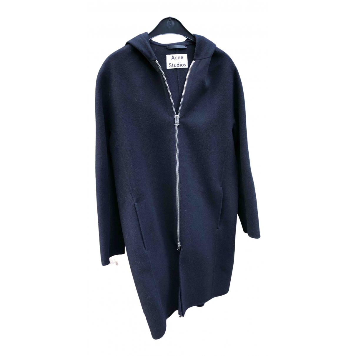 Acne Studios - Manteau   pour femme en laine - marine