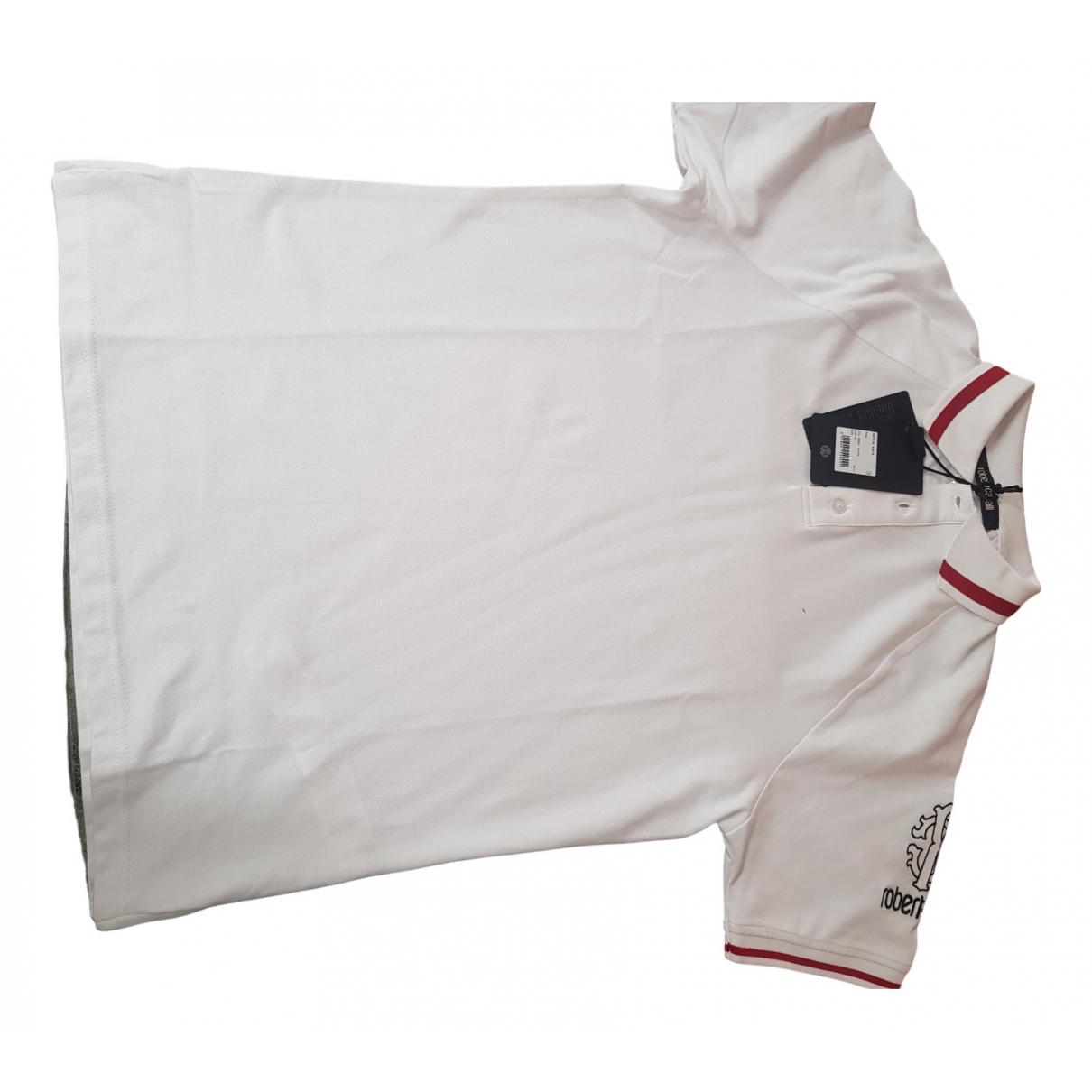 Roberto Cavalli - Polos   pour homme en coton - blanc