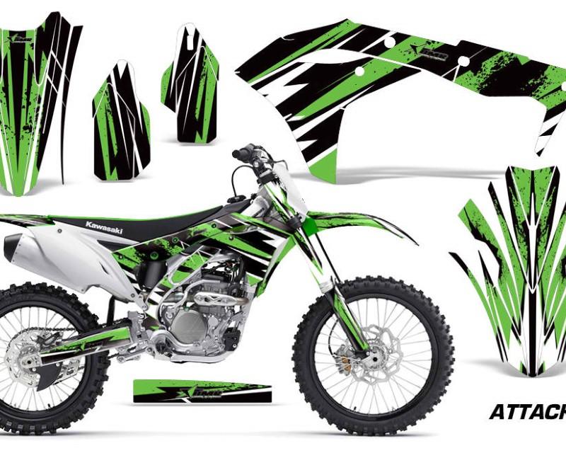 AMR Racing Dirt Bike Graphics Kit Decal Sticker Wrap For Kawasaki KXF250 2017-2018áATTACK GREEN