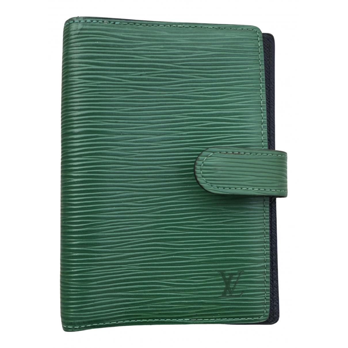 Louis Vuitton - Objets & Deco Couverture dagenda PM pour lifestyle en cuir - vert
