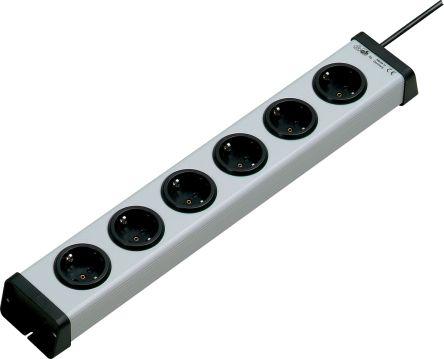 Bodo Ehmann 3m 6 Socket Type F - German Schuko Extension Lead, 250 V ac, Black