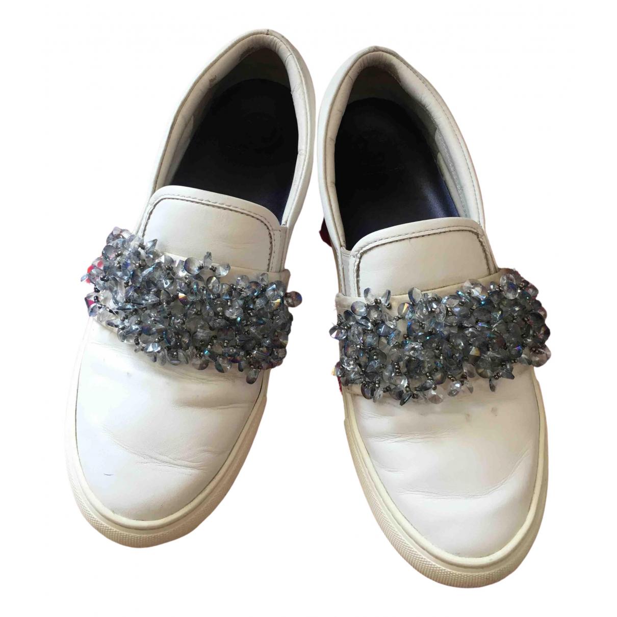 Tory Burch \N Sneakers in  Weiss Leder