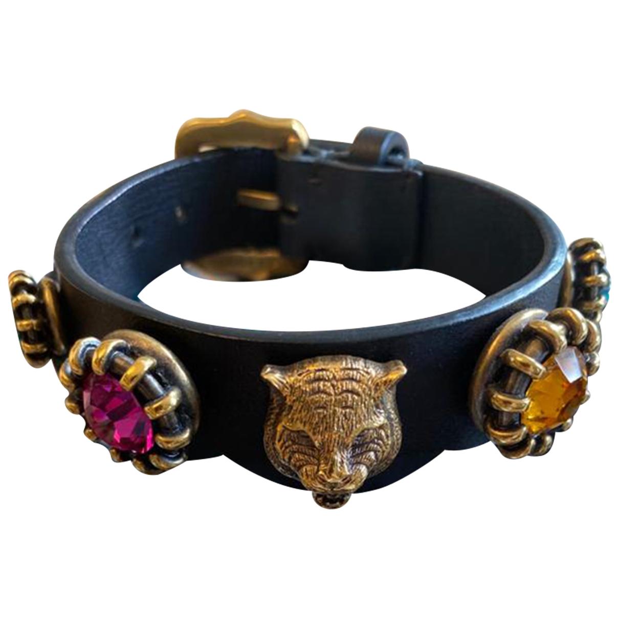 Gucci \N Armband in  Schwarz Leder