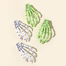 4 Stuecke Haarklammer mit Schaedelhand design