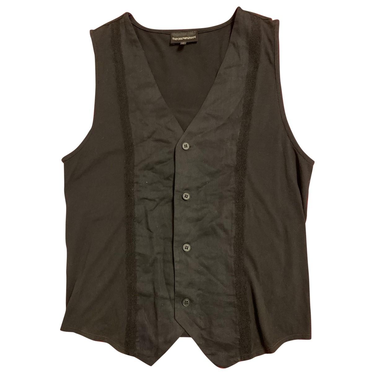 Emporio Armani \N Black Cotton Knitwear & Sweatshirts for Men M International
