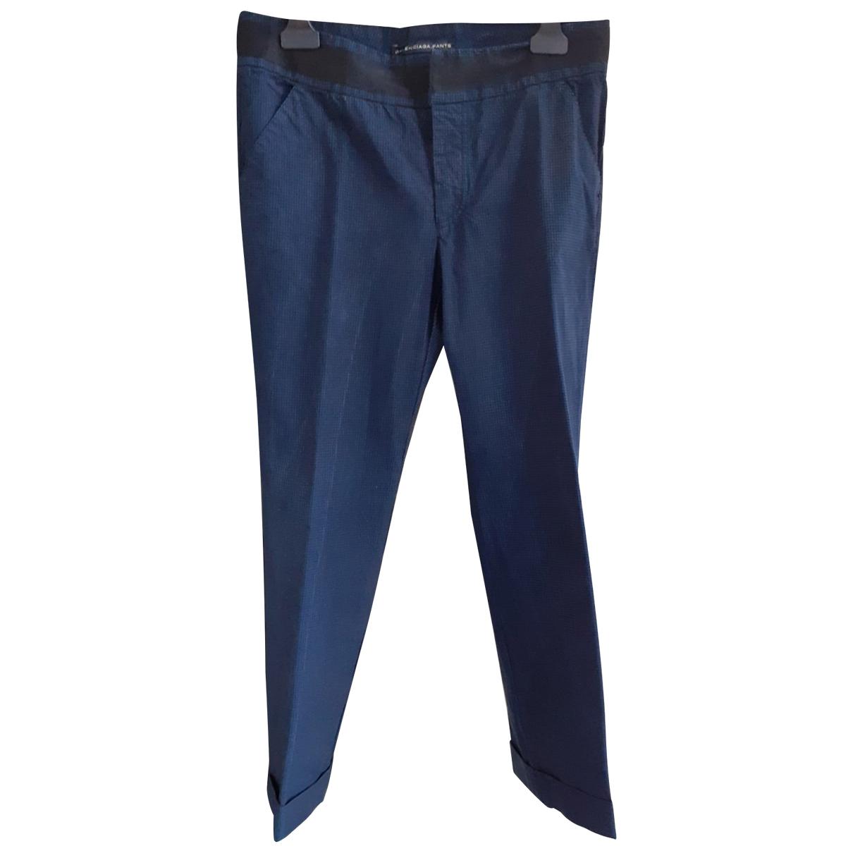 Balenciaga - Pantalon   pour femme en coton - bleu