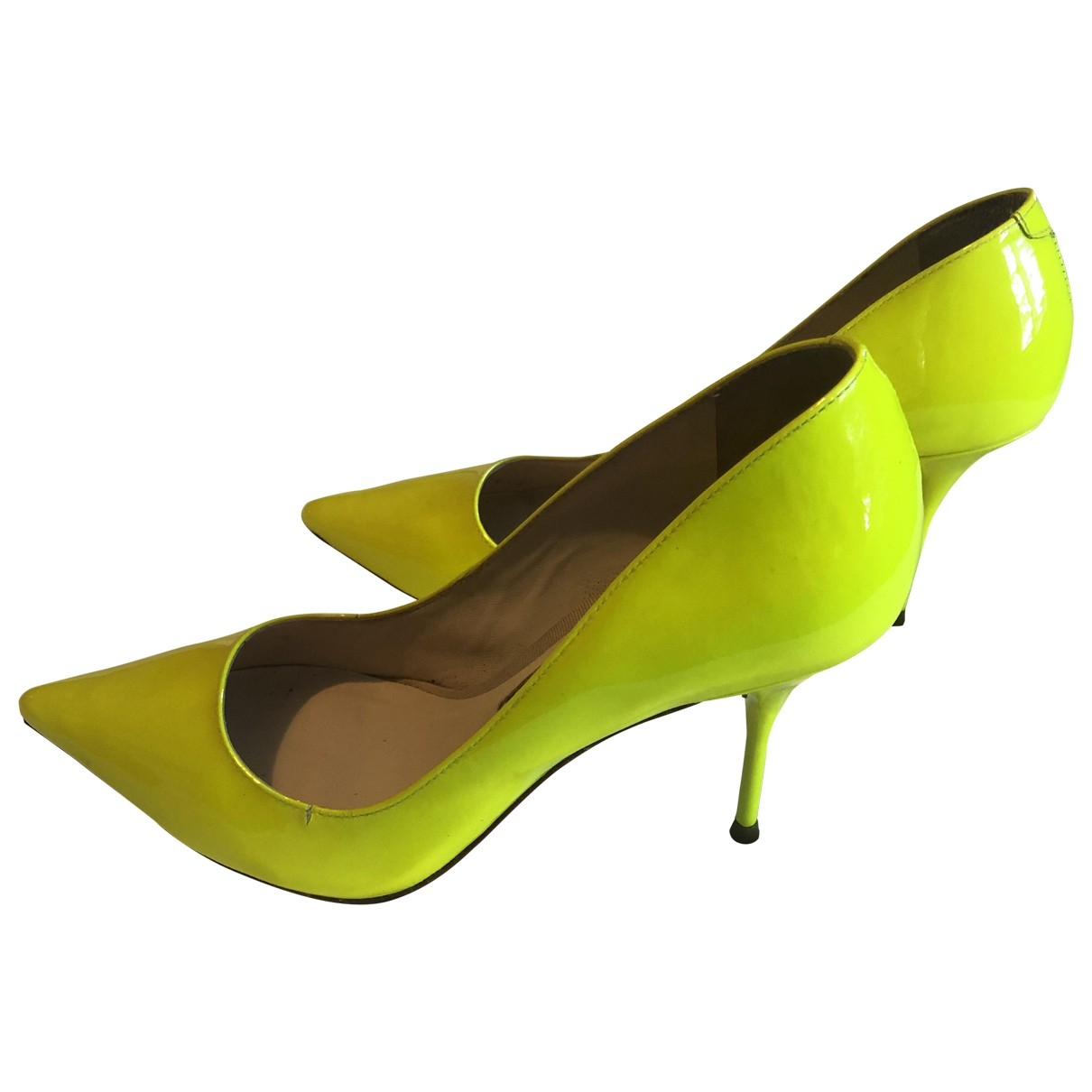 Sophia Webster \N Yellow Patent leather Heels for Women 36.5 EU