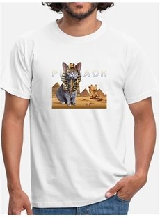 Beddinginn Straight Casual Print Hand Painted Men's T-shirt