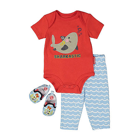 Fisher-Price Baby Boys 2-pc. Pant Set, Newborn-3 Months , Red