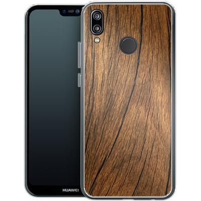 Huawei P20 Lite Silikon Handyhuelle - Wood von caseable Designs