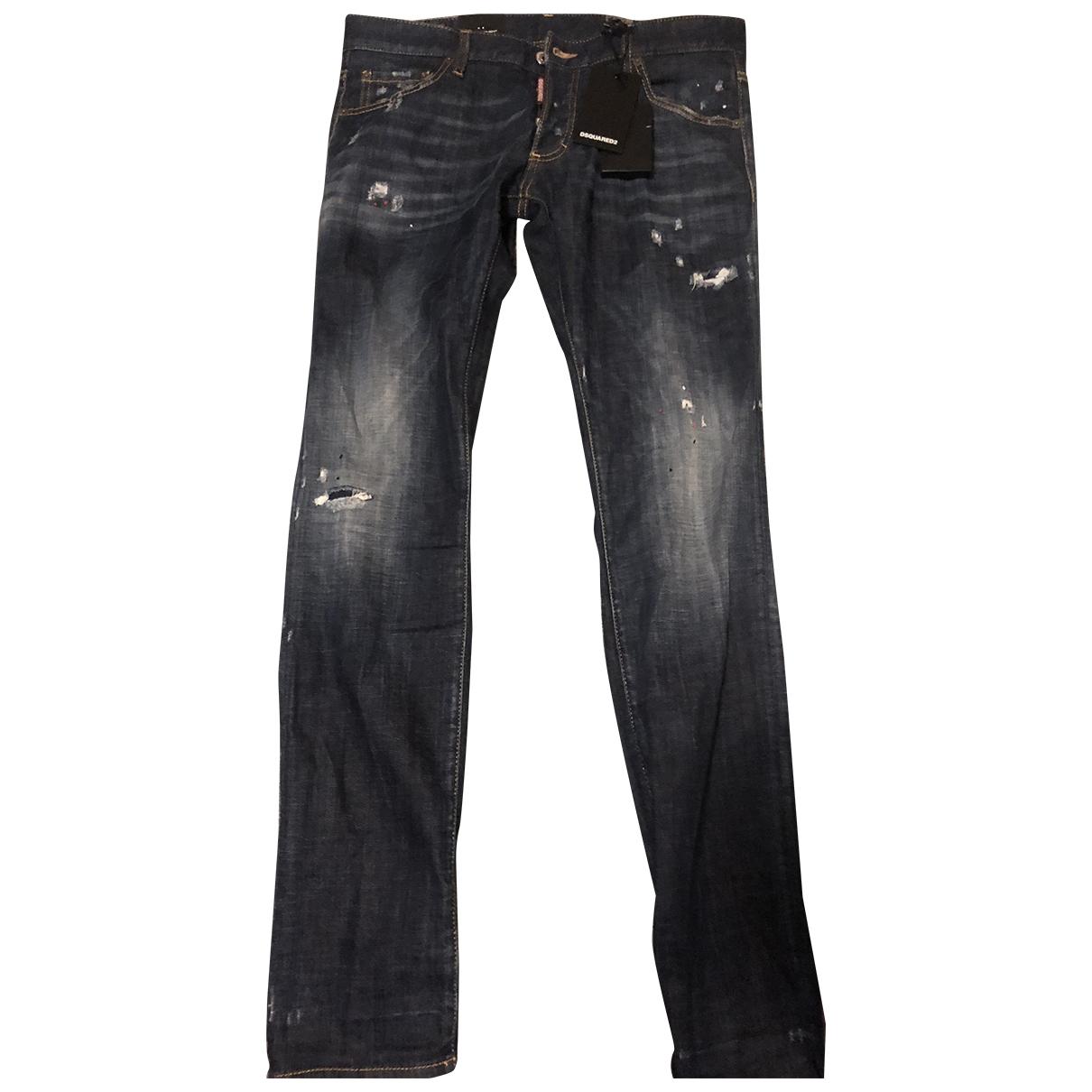 Dsquared2 \N Blue Cotton Jeans for Men 34 US