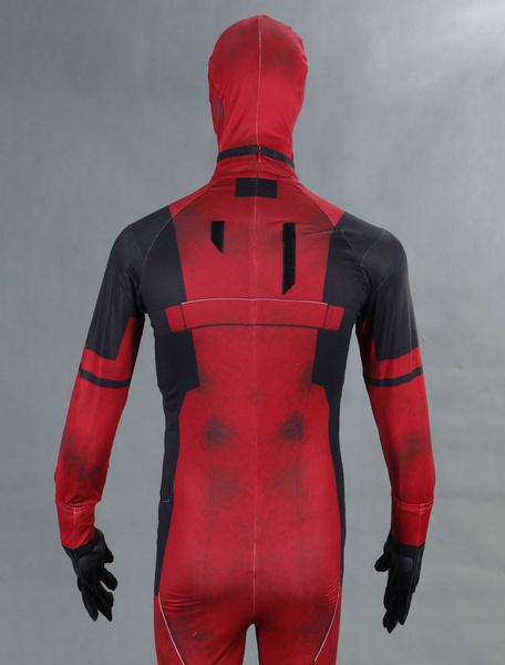 Milanoo Halloween Carnaval Deadpool Cosplay Costum Marvel Super Hero Lycra Spandex Zentai