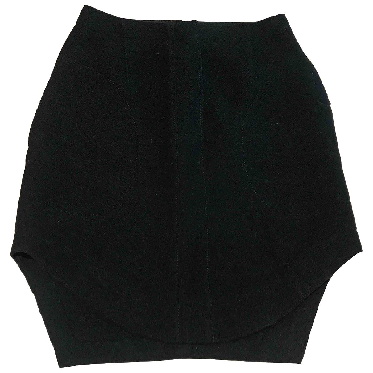 Carven \N Black Wool skirt for Women 36 FR