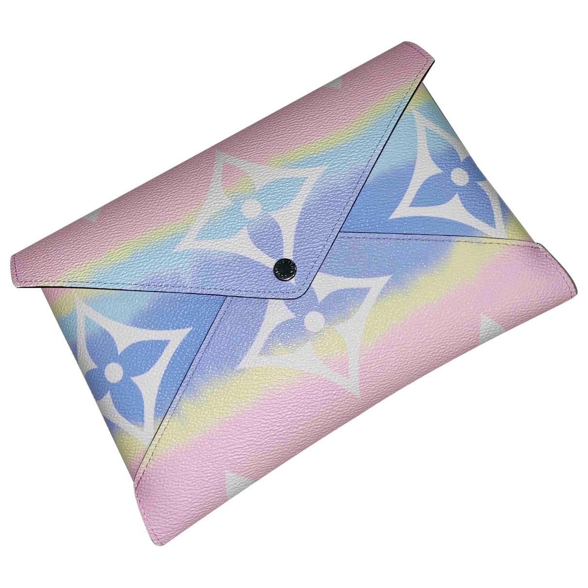 Louis Vuitton - Pochette Kirigami pour femme en toile - rose