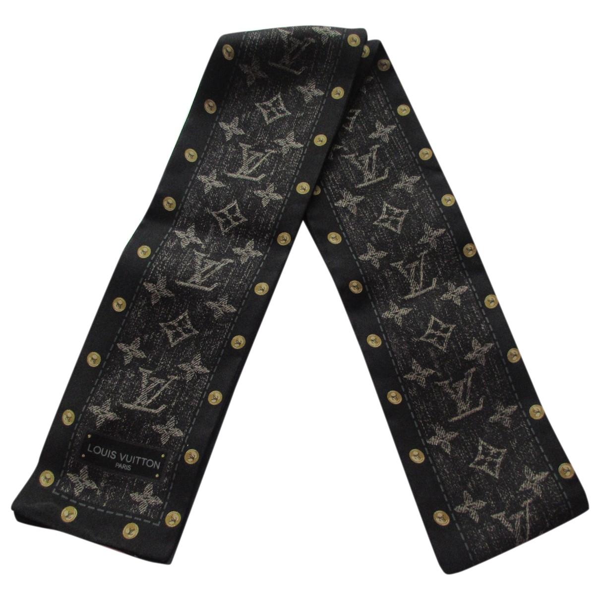 Louis Vuitton - Foulard   pour femme en soie - noir