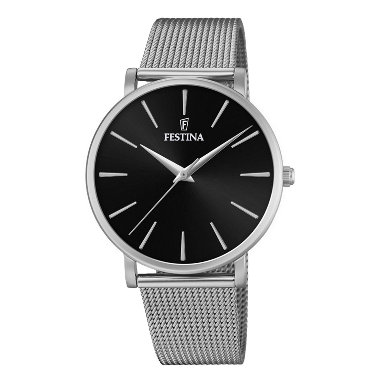 Festina Women's Boyfriend F20475-4F24 Black Stainless-Steel Quartz Dress Watch