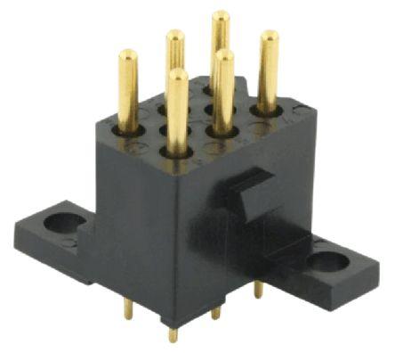 Souriau , SMS, 6 Way, 2 Row, Straight PCB Header (5)
