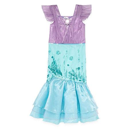 Disney Collection Ariel Girls Costume, 5-6 , Purple