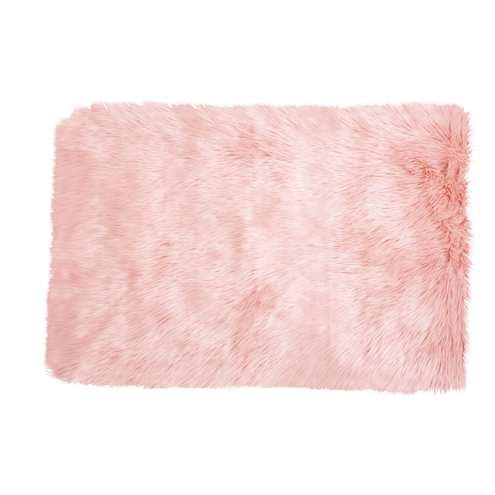 Webpelzteppich aus rosa Kunstfell 80x120