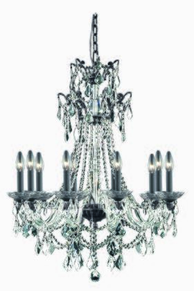 9810D30DB/SS 9810 Imperial Collection Hanging Fixture D30in H40in Lt: 10 Dark Bronze Finish (Swarovski  Elements Crystal