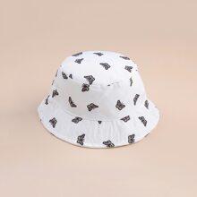 Butterfly Print Bucket Hat