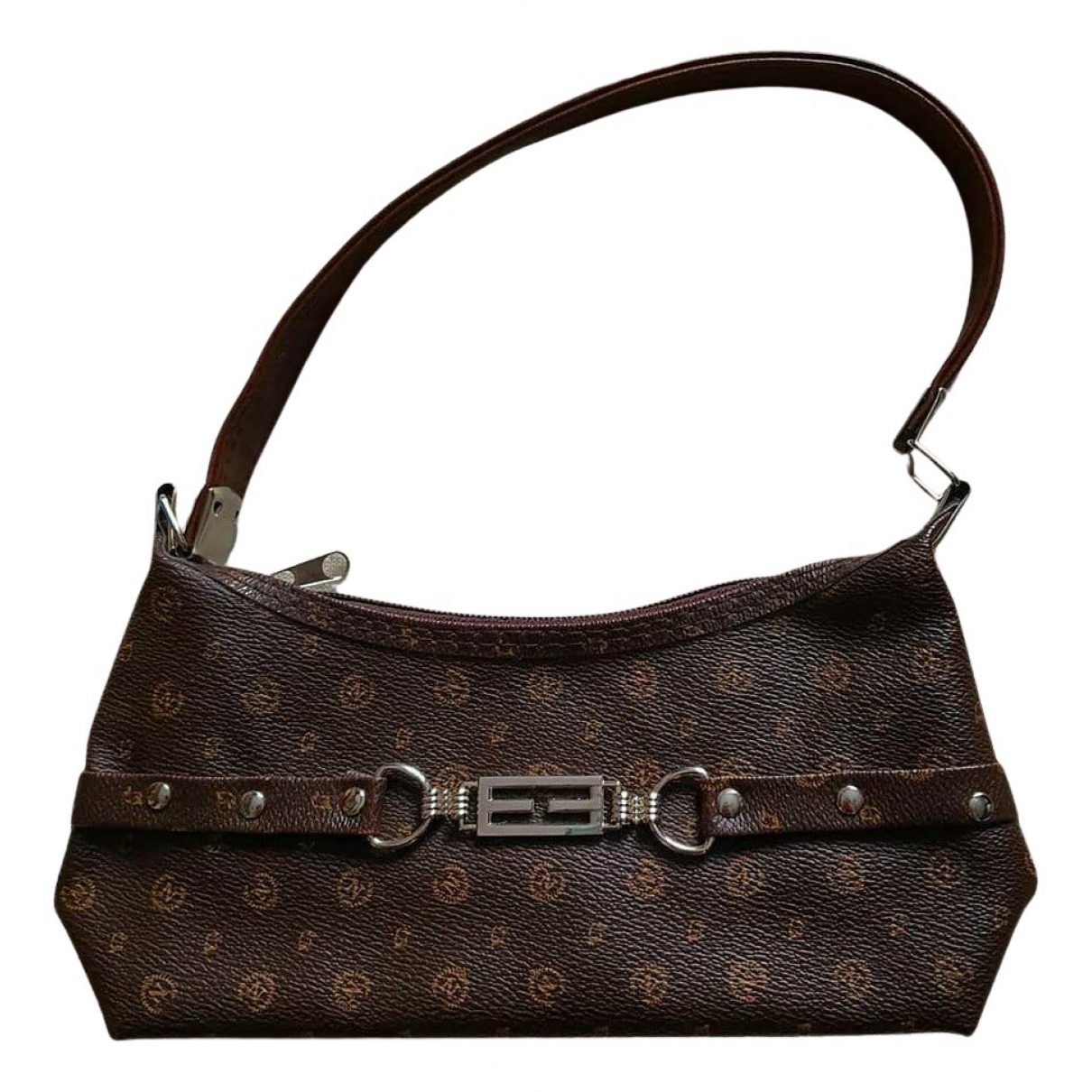 Non Signé / Unsigned N Brown handbag for Women N