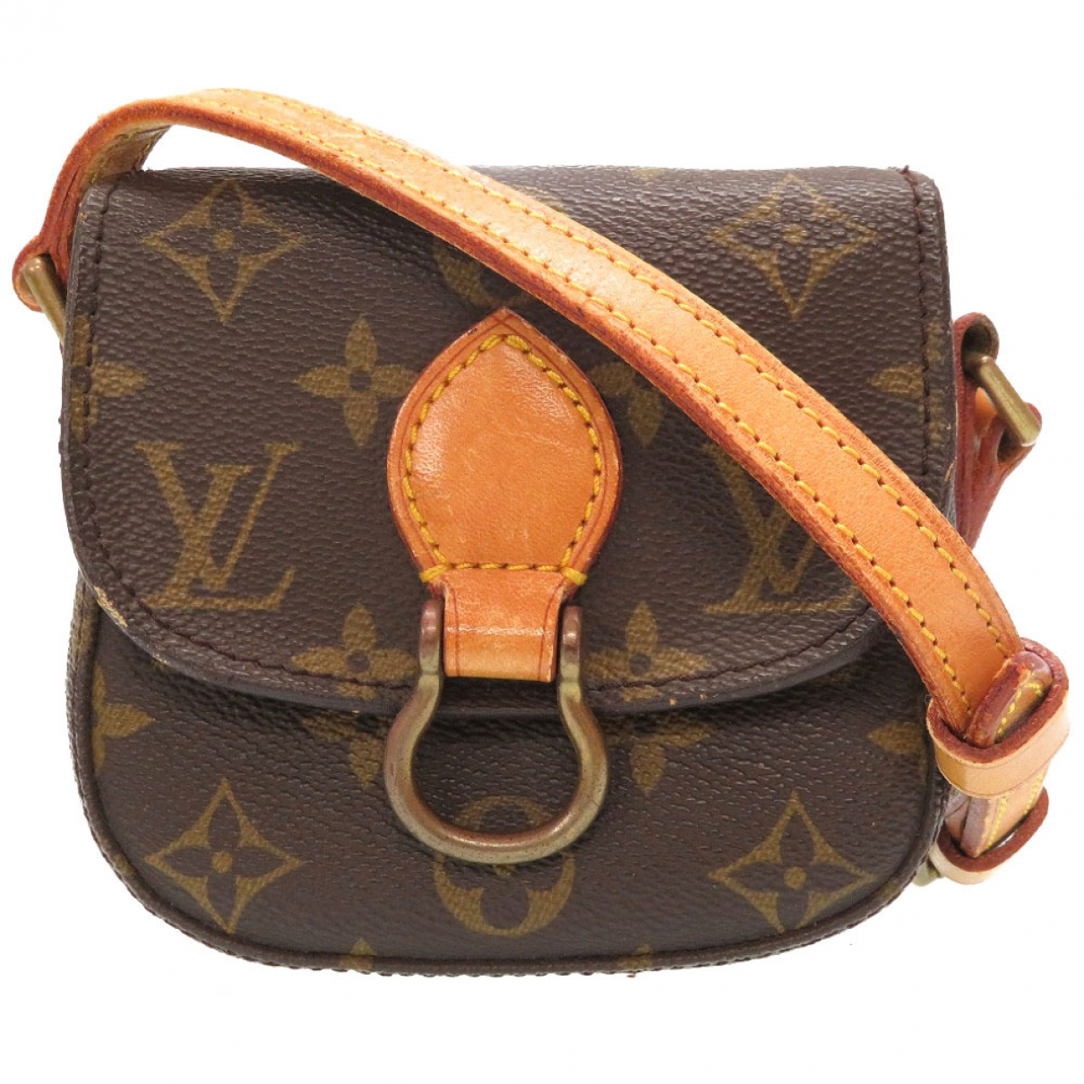 Louis Vuitton - Sac a main Saint Cloud vintage pour femme en toile - marron