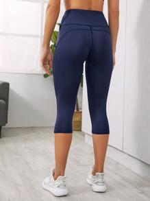 Mesh Panel Sports Leggings With Phone Pocket