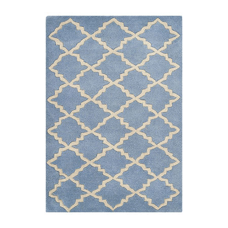 Safavieh Velasco Geometric Hand Tufted Wool Rug, One Size , Blue