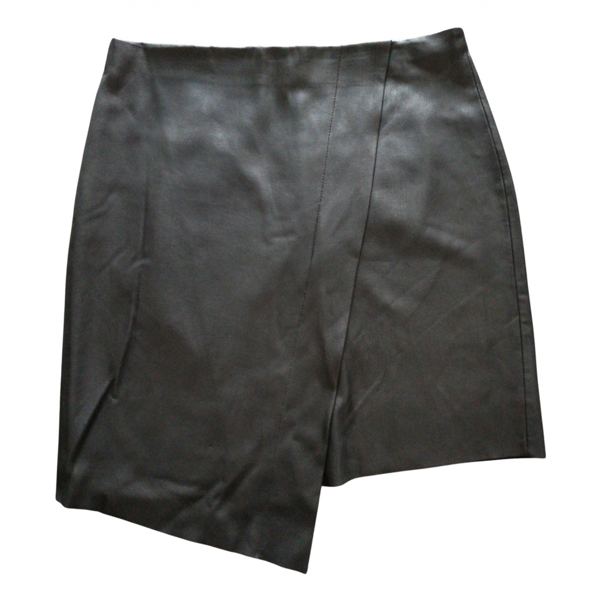 Zara N Black Leather skirt for Women XXS International