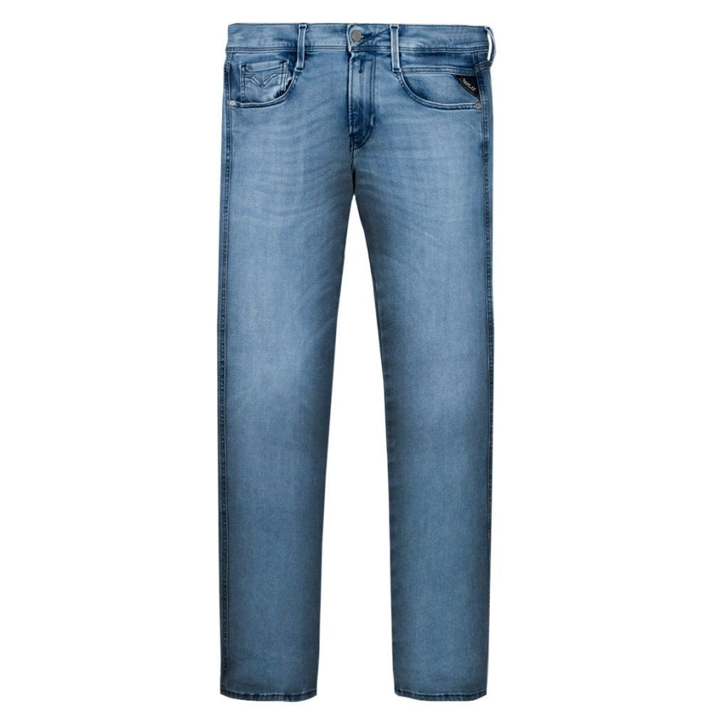 Replay Hyperflex Clouds Jeans Light Blue Colour: LIGHT BLUE, Size: 30 30