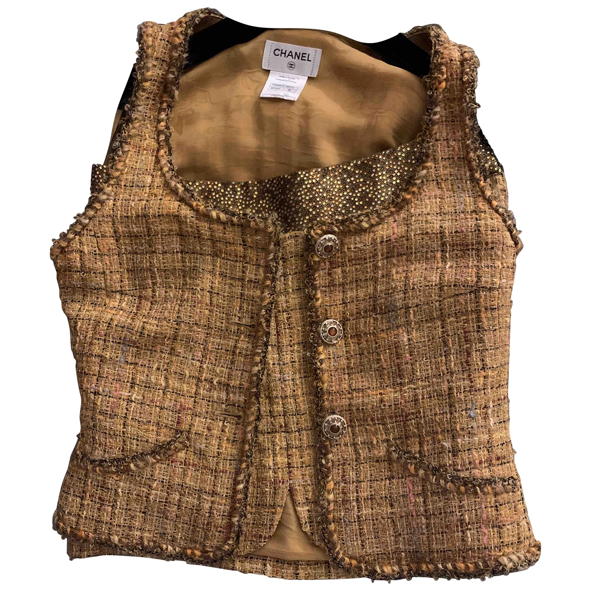 Chanel \N Gold Tweed dress for Women 38 FR