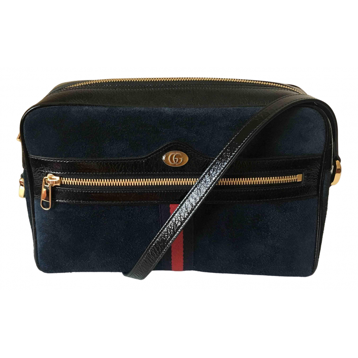 Gucci Ophidia Navy Suede handbag for Women \N
