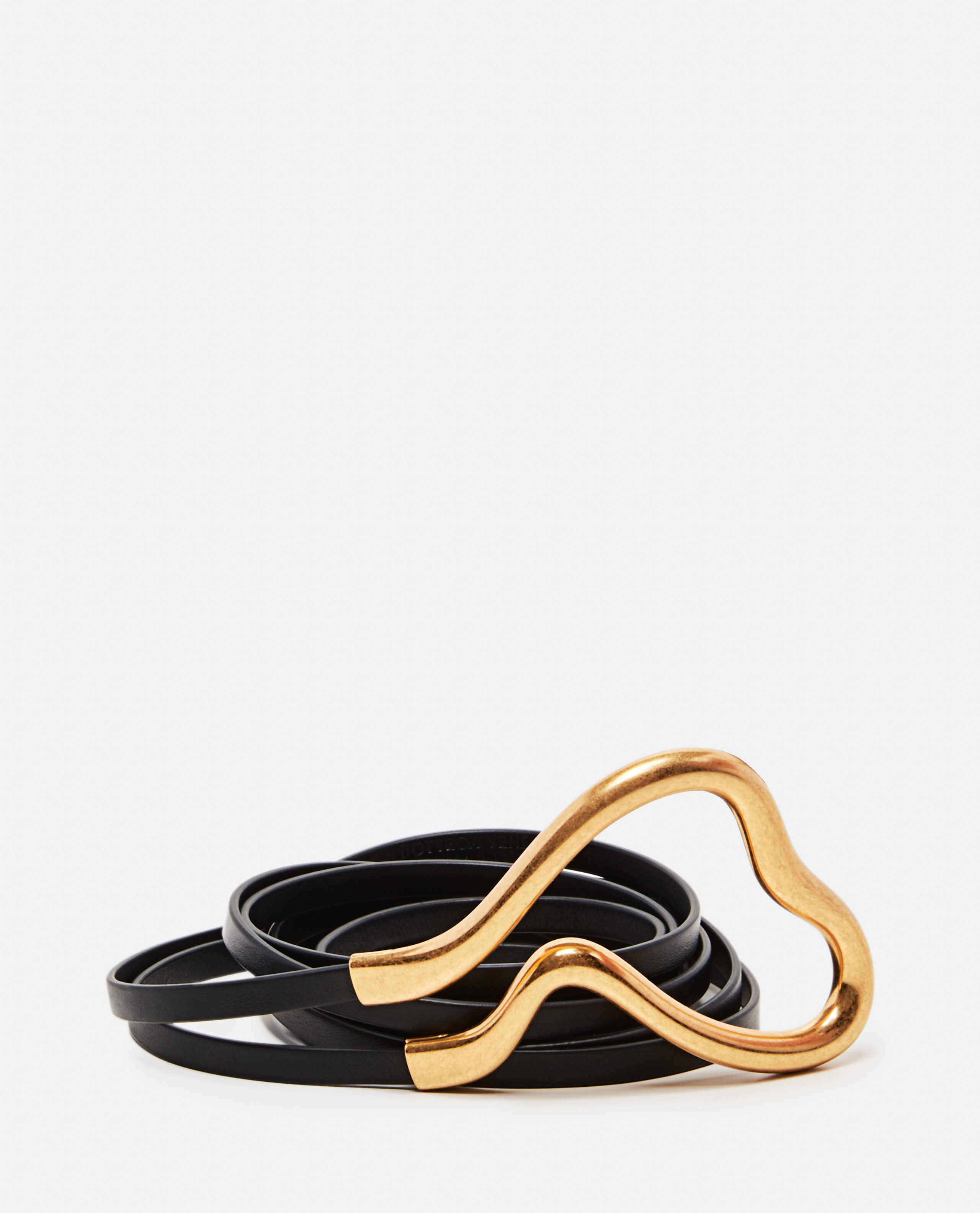 Double belt in Nappa leather