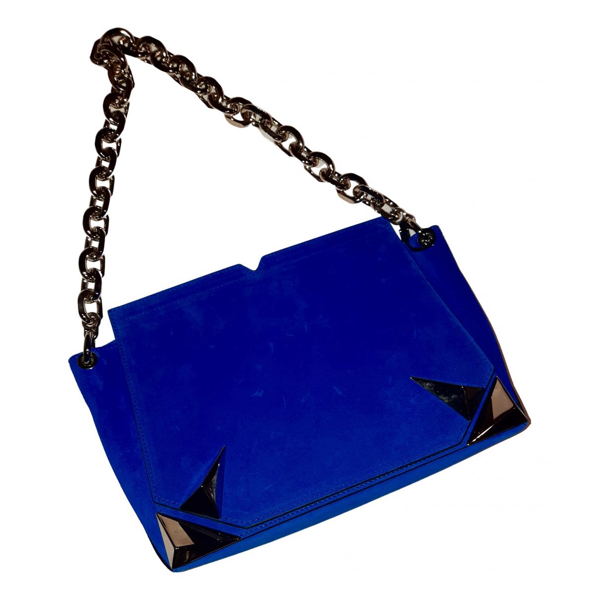 Mugler N Blue Suede handbag for Women N