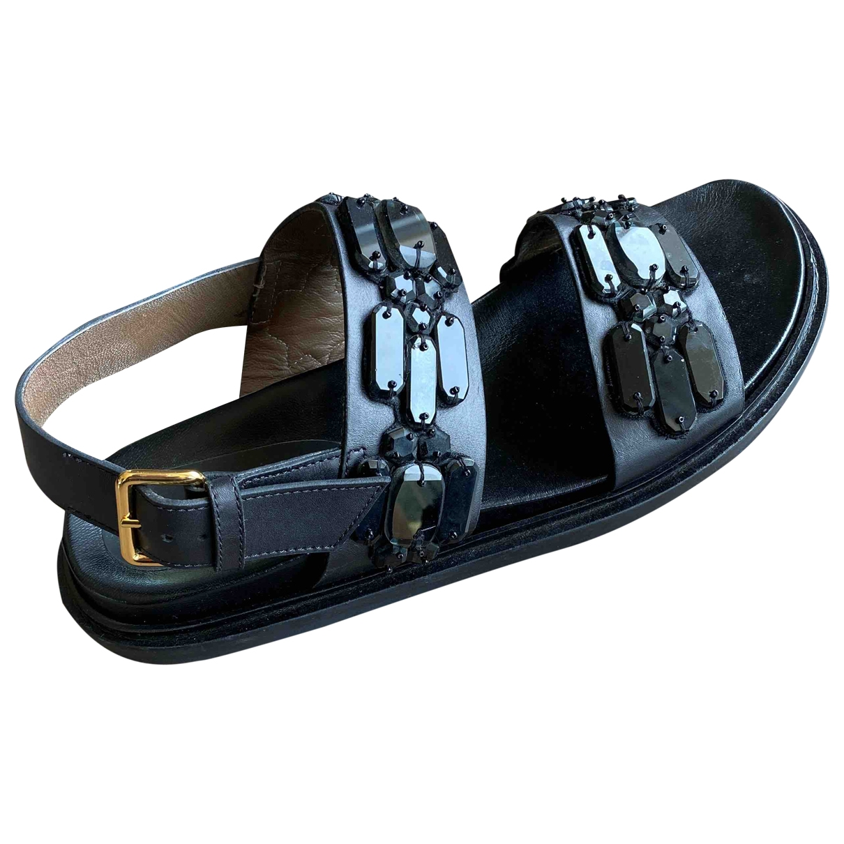 Marni \N Black Leather Sandals for Women 41 EU