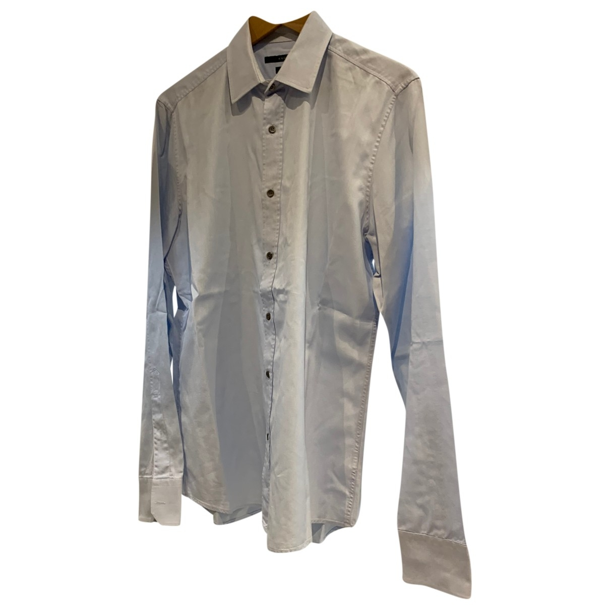 Gucci \N Blue Cotton Shirts for Men 16 UK - US (tour de cou / collar)