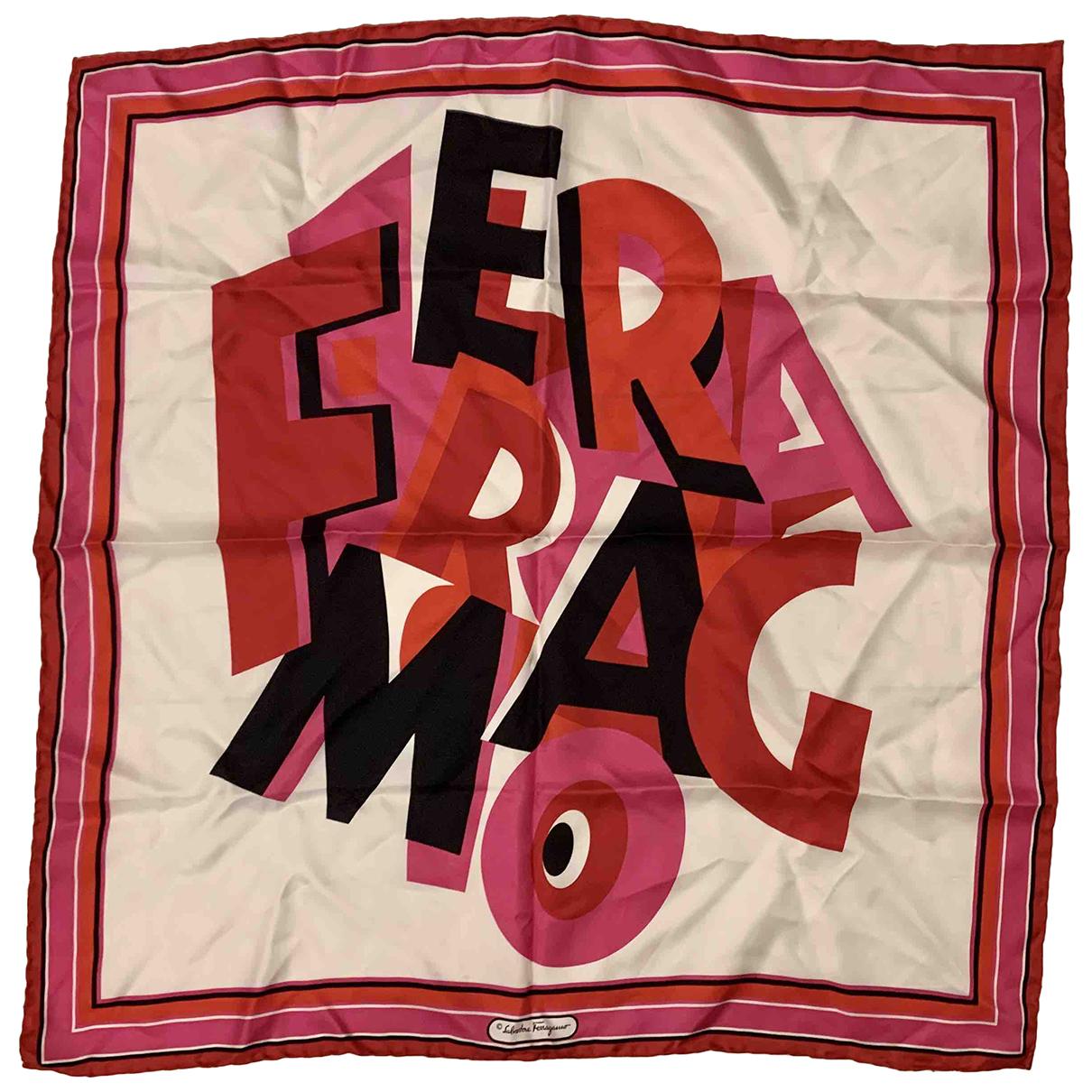 Salvatore Ferragamo - Foulard   pour femme en soie - rouge