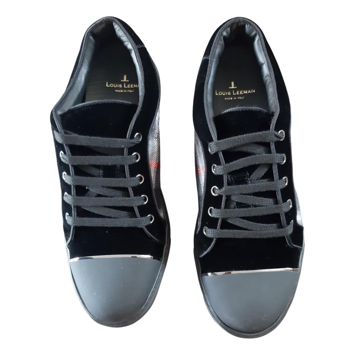 Louis Leeman \N Sneakers in  Schwarz Leder
