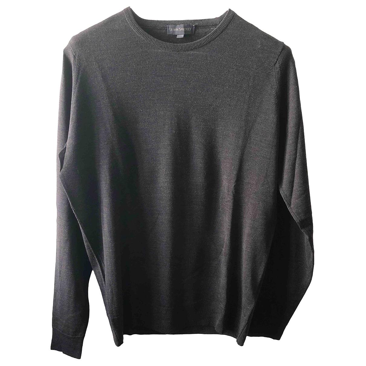 John Smedley \N Pullover.Westen.Sweatshirts  in  Braun Wolle