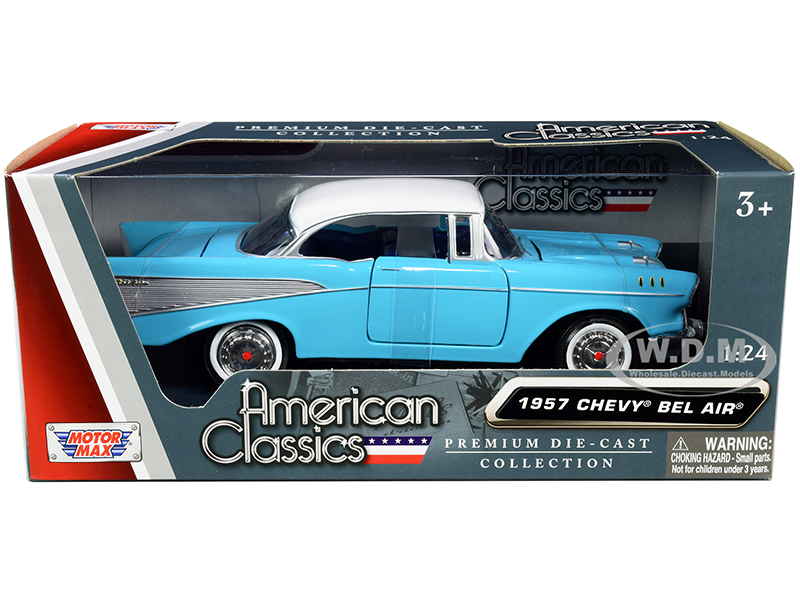 1957 Chevrolet Bel Air Light Blue with White Top